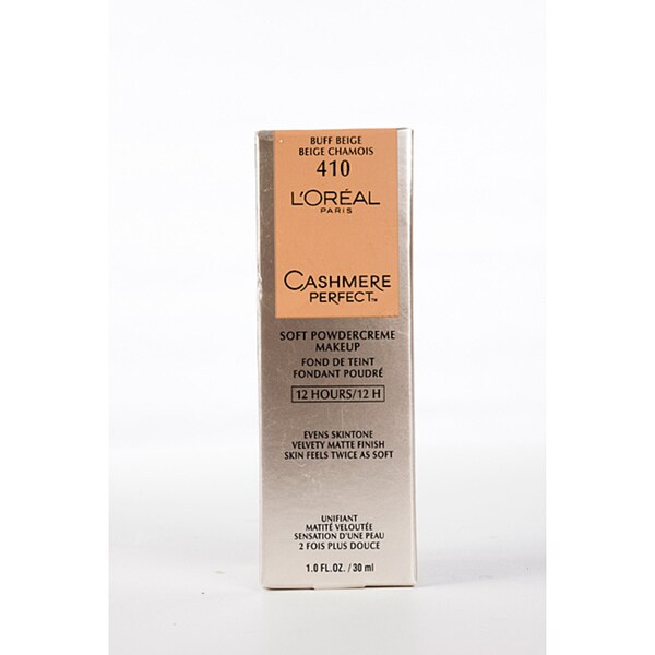 L'Oreal Cashmere Perfect Soft Powder 410 Buff Beige Crème Makeup (Pack of 4)