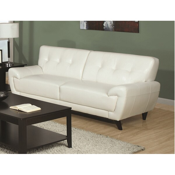 White Bonded Leather Sofa: Shop White Bonded Leather Sofa