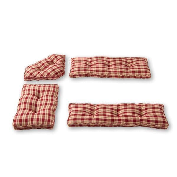 Shop Nook Applegate Plaid Ruby Red 4-piece Cushion Set