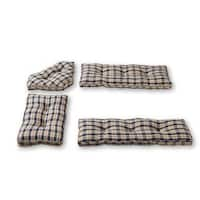Greendale Home Fashions Applegate Plaid Navy 4-piece Nook Cushion Set
