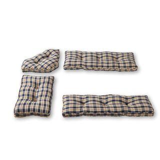 Greendale Home Fashions Applegate Plaid Navy 4-piece Nook Cushion Set