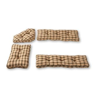 Nook Applegate Plaid Olive Green 4-piece Cushion Set