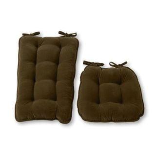 Sage Green Ribbed Microfiber Jumbo Rocking Chair Cushion Set