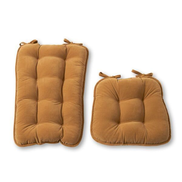 Merveilleux Khaki Ribbed Microfiber Jumbo Rocking Chair Cushion Set