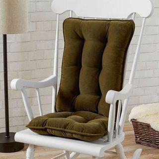 Sage Green Ribbed Microfiber Standard Rocking Chair Cushion Set