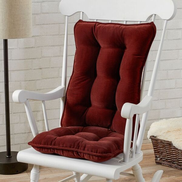 Attrayant Greendale Home Fashions Wine Cherokee Rocking Chair Cushion Set