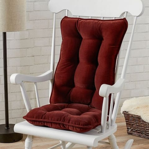 Greendale Home Fashions Wine Cherokee Rocking Chair Cushion Set