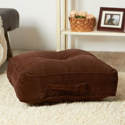 Greendale Home Fashions Ribbed Microfiber 20-inch Bitter Square Floor Pillow