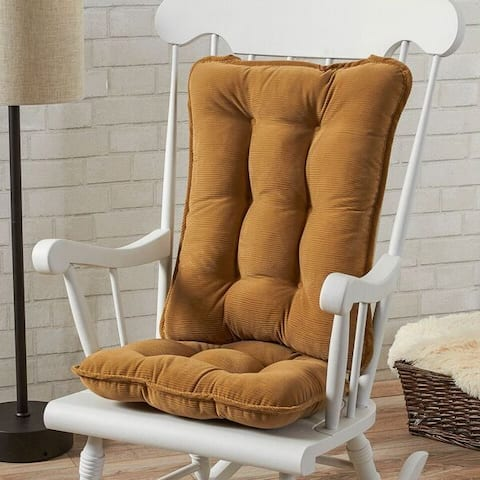 Greendale Home Fashions Khaki Cherokee Rocking Chair Cushion Set