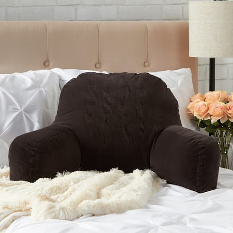 Greendale Home Fashions Charcoal Omaha Bed Rest Pillow