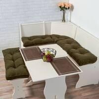 Greendale Home Fashions Cherokee Sage Microfiber 4-pc Nook Cushion Set