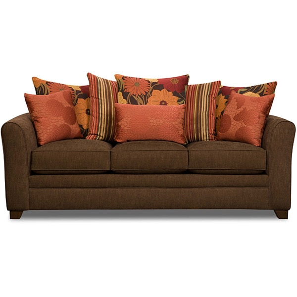 Shop Simmons Upholstery Beautyrest Avignon Earth Sofa