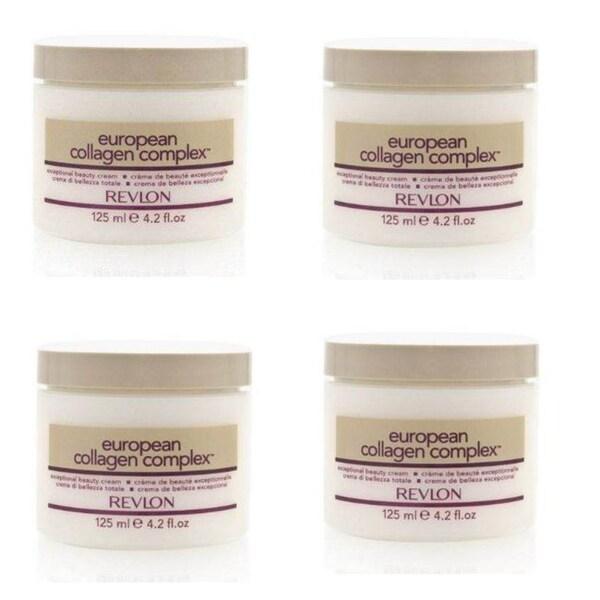 Revlon European Collagen Complex 4.2-ounce Beauty Cream (Pack of 4)