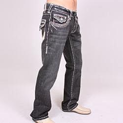 Laguna Beach Men's 'Hermosa Beach' Black Wash Jeans - Thumbnail 1