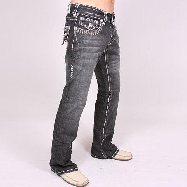 Laguna Beach Men's 'Seal Beach' Black Wash Jeans