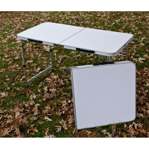 Nice Slim Jim Aluminum Folding Table   Free Shipping Today   Overstock.com    14351329