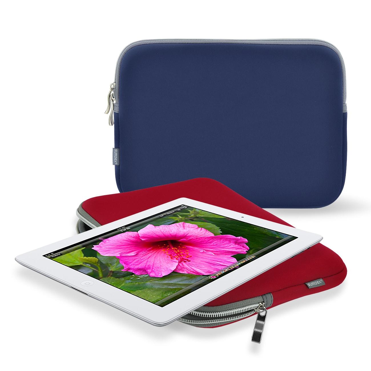 Sumdex NUN-010 10.2-inch Neoprene Insert Zipper Sleeve for iPad 2 Tablets