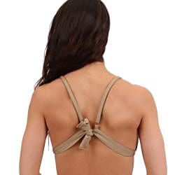 Women's Nude Triangle Swim Top - Thumbnail 1