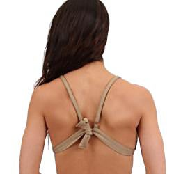 Women's Nude Triangle Swim Top