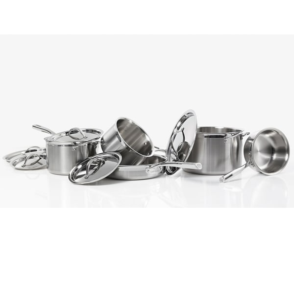 Shop Cat Cora 10 Piece Stainless Steel Cookware Set Free