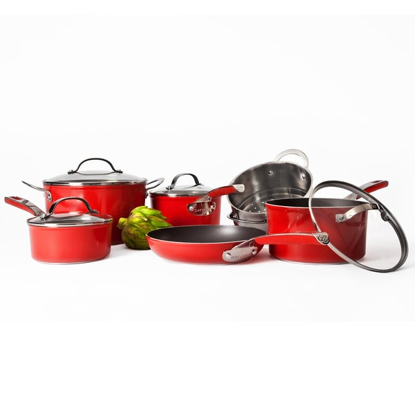 Cat Cora Red 10-piece Cookware Set