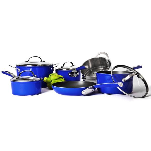 Cat Cora Blue 10-piece Cookware Set