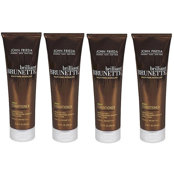 John Frieda Brilliant Brunette 8.45-ounce Daily Conditioner (Pack of 4)