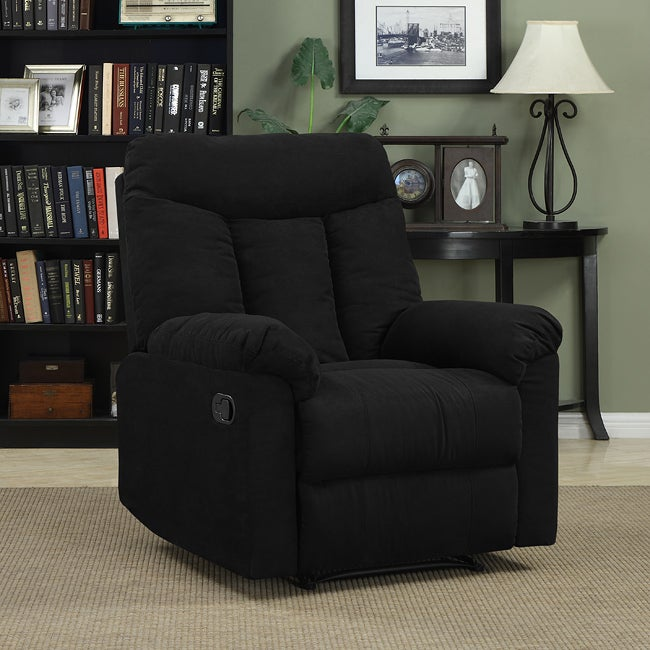 Prolounger Wall Hugger Black Microfiber Recliner Free Shipping Today Overstock Com