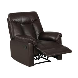 ProLounger Wall Hugger Coffee Brown Renu Leather Recliner - Thumbnail 1