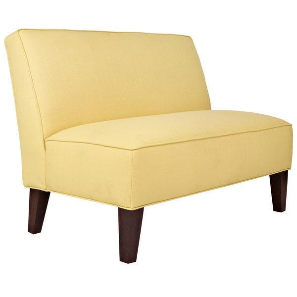 Handy Living Dover Washed Buttercream Yellow Settee