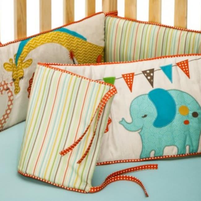 Shop Bananafish Migi Circus Crib Bumper Free Shipping