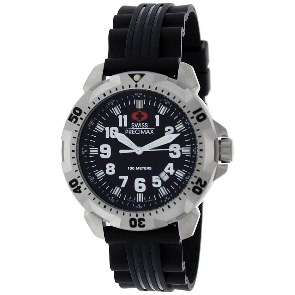 Swiss Precimax Men's Black/Silver SuperNova Watch