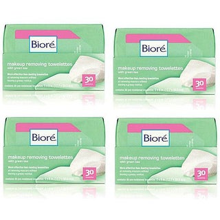 Biore Makeup Removing Green Tea Towelettes (Pack of 120)