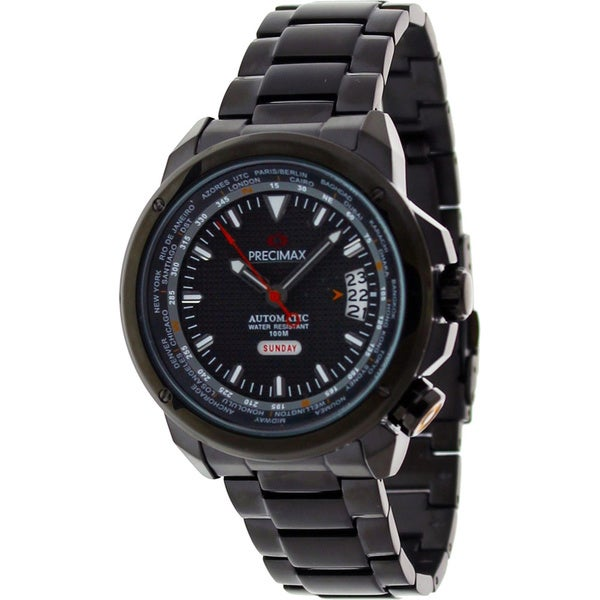 Precimax Men's Tour Automatic Black Stainless Steel Watch