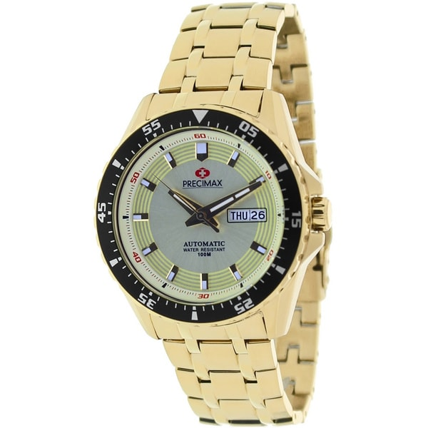 Precimax Men's Vintage Automatic Stainless Steel Watch