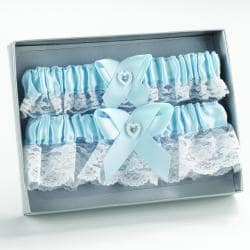 Blue Heart Keep/ Throw Garter Set