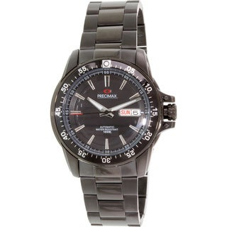 Precimax Men's Propel Black Automatic Stainless Steel Watch