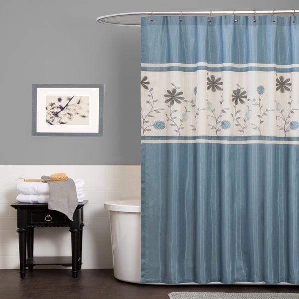 Lush Decor Monica Blue Shower Curtain