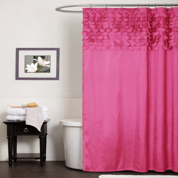 Lush Decor Lillian Pink Shower Curtain