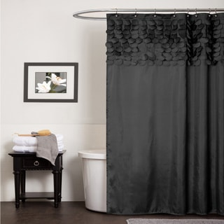 Lush Decor Lillian Black Shower Curtain