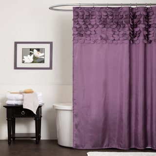 Lush Decor Lillian Purple Shower Curtain