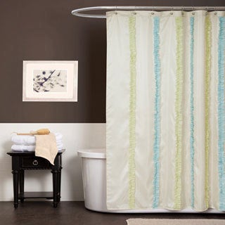 Lush Decor Aria Blue / Green Shower Curtain