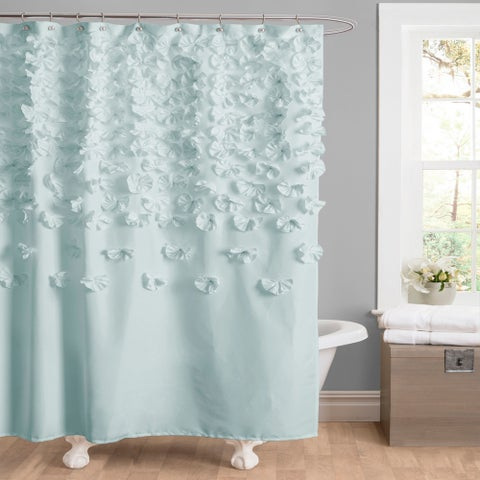 Lush Decor Lucia Ivory Shower Curtain