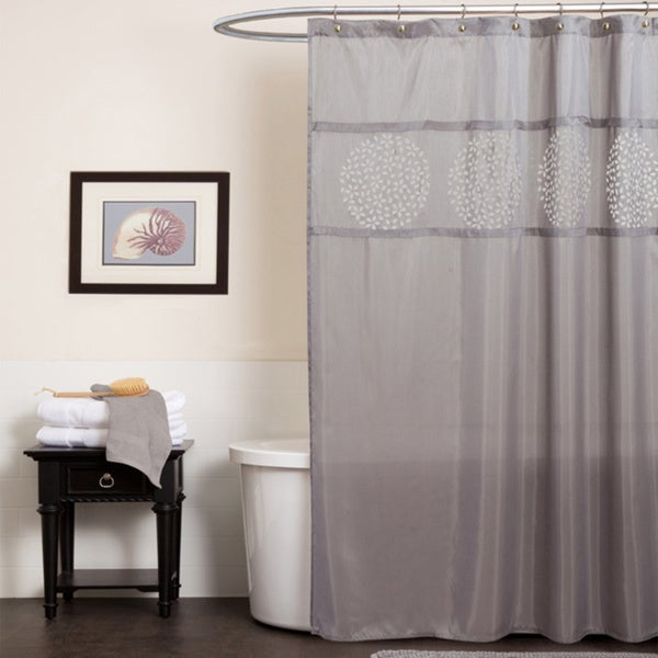 Lush Decor Fressia Gray Shower Curtain