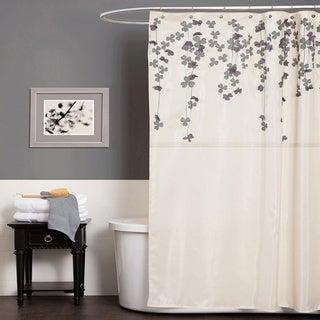 Lush Decor Flower Drop Ivory Shower Curtain