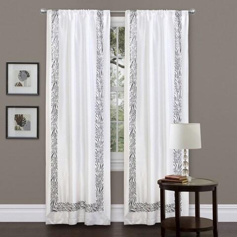 Lush Decor Grey Urban Savanna 84-inch Curtain Panel - 42 x 84