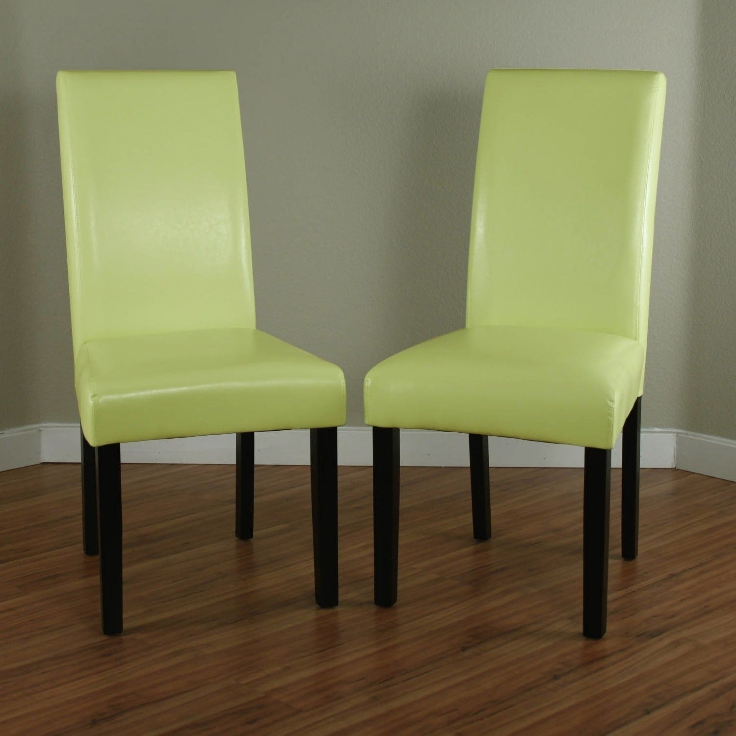 Monsoon Audio Villa Faux Leather Wax Green Dining Chairs ...