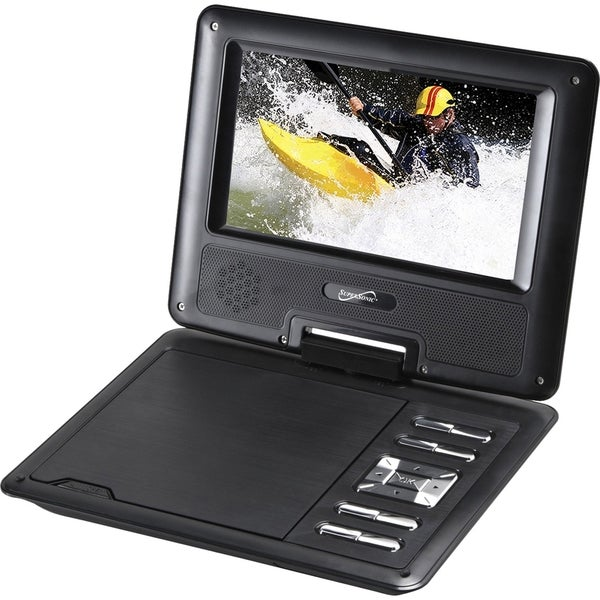 "Supersonic SC-177 Portable DVD Player - 7"" Display"