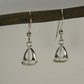 Jewelry by Dawn Small Sailboat Sterling Silver Earrings