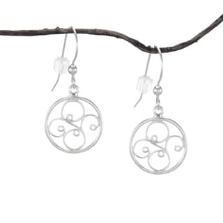 Handmade Jewelry by Dawn Small Round Filigree Sterling Silver Earrings (USA)